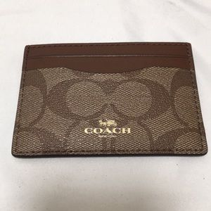 New Coach Signature Card case